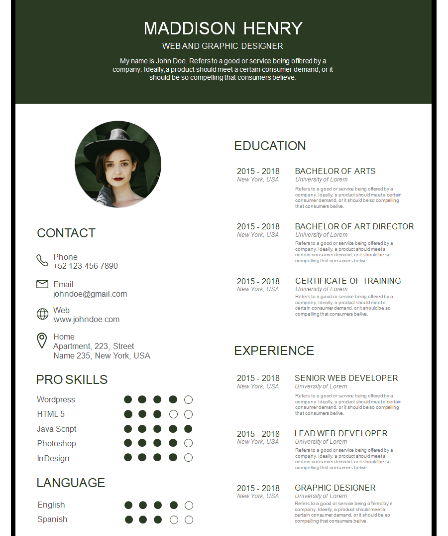 Professional Resume Template 5