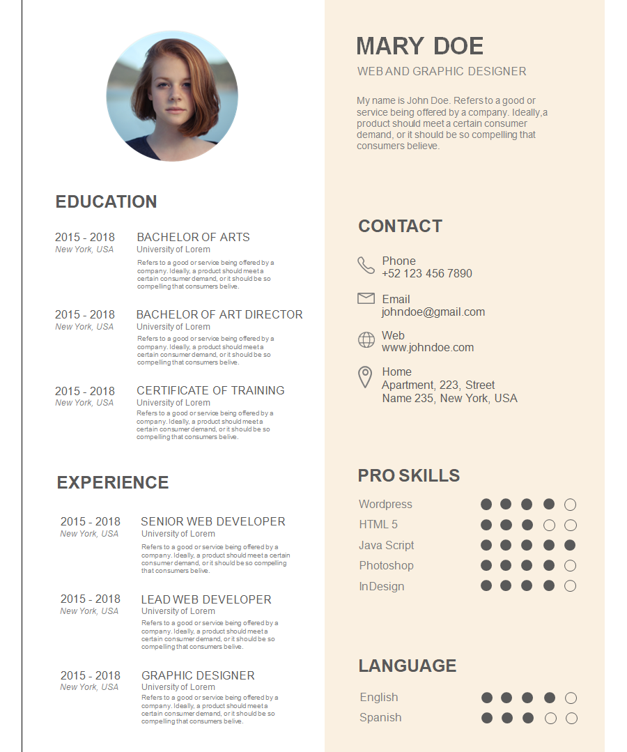 Professional Resume Template 8