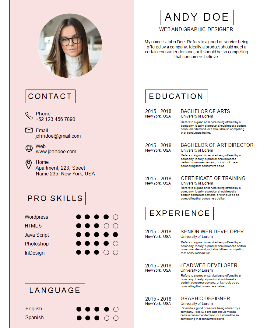 Professional Resume Template 9
